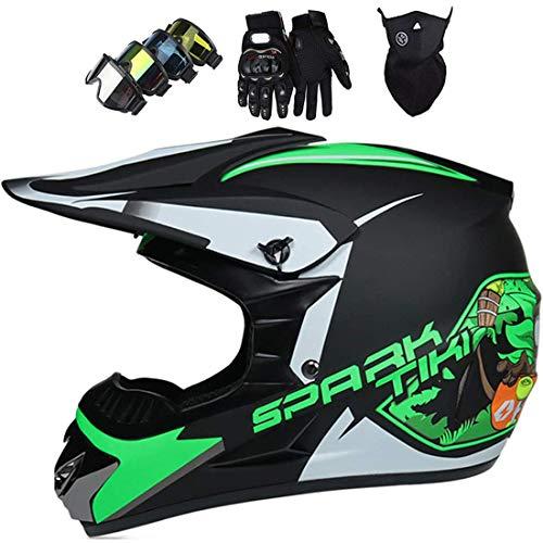 Casco MTB de cara completa con máscara, guantes, máscara, casco de motocross...