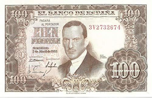 MATIDIA España Billete Original 100 Pesetas 1953 Julio Romero de Torres