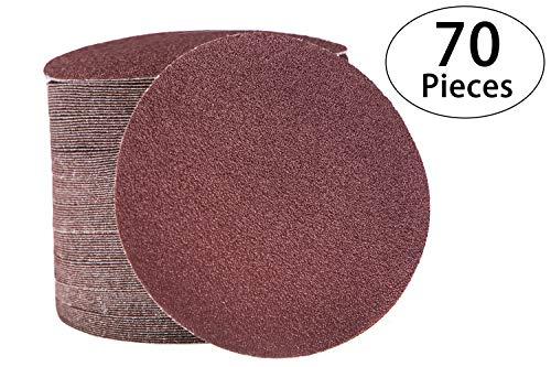 Preisvergleich Produktbild 125 mm Schleifscheiben - Schleifscheiben für Schleifpapierscheiben 40 60 100 150 240 320 und 600er Schleif- und Schleifenschleiferscheibe,  Schwingschleiferpads 70 Stück