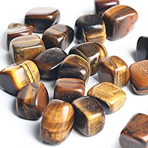 """1/2 Ib Natural Tiger Eye Tumbled Polished Stones for Wicca, Reiki, and Energy Crystal Healing Size 0.5"""" to 1''"""