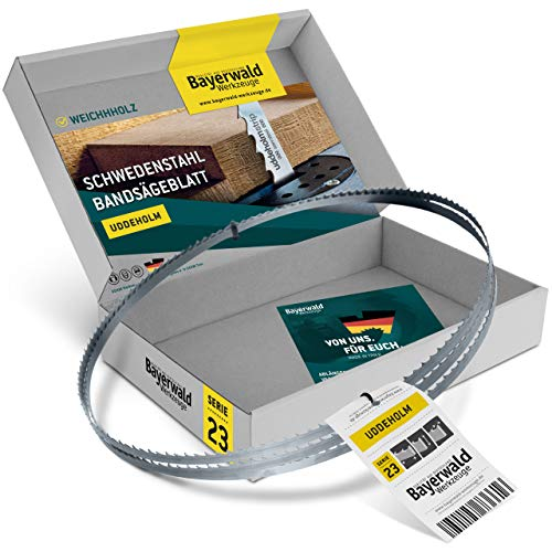 Bayerwald Uddeholm - Hoja de sierra de cinta (1425 x 8 x 0,5 x 4 mm, compatible con todo tipo de madera/sierra de cinta Einhell. Kity. Intercrenn. Rexon, Haager, Budget. Varo. Güde, etc.