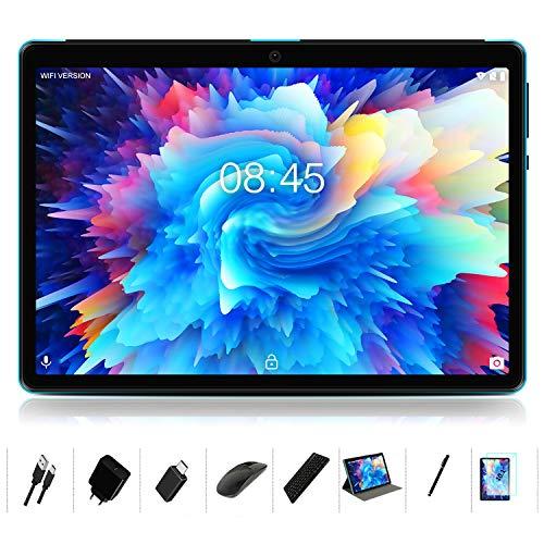 MEBERRY Tablet 10 Pulgadas Android 10.0-con Procesador de Octa-Core Ultrar Rápido Tablets 4GB RAM+64GB ROM - Certificación Google GMS - 8000mAh|WI-FI|Bluetooth|GPS|Type-C (5.0+8.0 MP Cámara) - Azul
