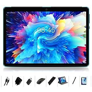 MEBERRY Tablet 10 Pulgadas Android 10.0-con Procesador de Octa-Core Ultrar Rápido Tablets 4GB RAM+64GB ROM - Certificación Google GMS - 8000mAh|WI-FI|Bluetooth|GPS|Type-C (5.0+8.0 MP Cámara) - Bleu