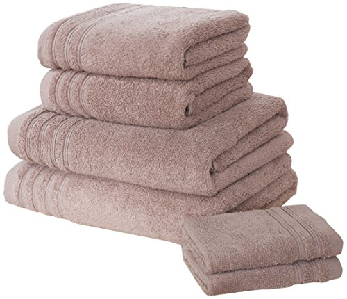 Rapport So Soft–Set di Asciugamani, 100% Cotone–Rosa Antico