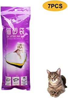 Hamkaw Cat Litter Box Liners, Cat Litter Disposal Bags Scratch Resistant Heavy Duty Drawstring Super Strong Thick Cat Litter Tray Liners for Medium and Large Litter Box