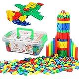 Qchomee 280/450 Stück Bauklötze Steckbausteine Steckspiel Förderung Spielspaß Spielzeug Kunststoff Bausteine Konstruktionsspielzeug mit Aufbewahrungsbox Kinderspielzeug Lernspielzeug für Kinder