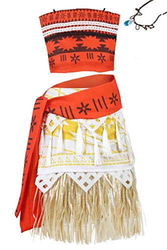 Wenge Princess Costume Skirt Set Girls Women Cosplay Dress up (Adult-L, Adult Moana)