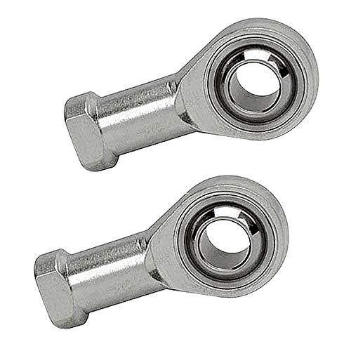 Smartsails SI10T / K, Aperture 10mm Inner Diameter Self-Lubricating Rod End Joint Bearing Female Thread Female Right Hand 2 Pieces
