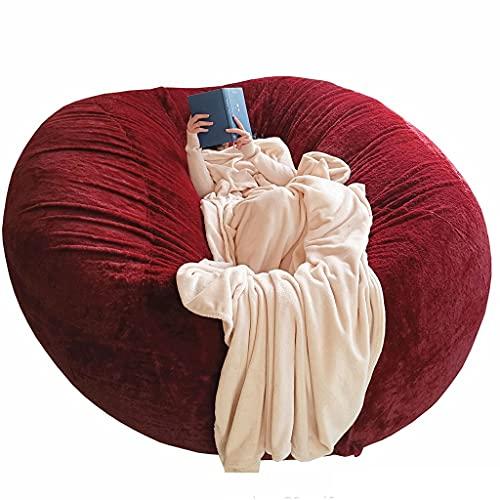 Sacco per divano in peluche, nuovo per uso domestico Divano pigro Sacchi di fagioli Fodera per sedia (senza riempimento) Fodera per sedia per riporre i sacchetti di fagioli Perfetto per leggere, gioca