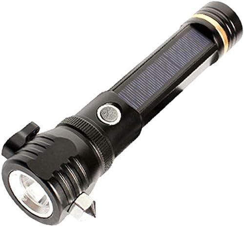 MIMI KING Lampe de Poche Solaire Multi-Fonctionnelle portable USB Rechargeable LED Lampe de Poche Voiture Lampe de Poche Ultra Lumineux 1000 luPour des hommes de Poche Lampes de Poche en Plein air