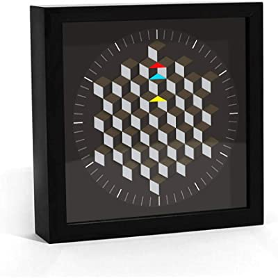 Hexagon Table Wall Clock Modern Graphic Art Extremely Simple Decorative Rotary Board Smart Bell Architect Hand New