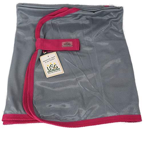 USG Fliegendecke Basic silbergau pink mit Brustverschluss und Schweifkordel, Deckengröße:125