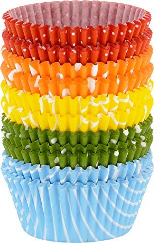 RBV Birkmann, bunt gemustert, 440852, Easy Baking, Muffin-Papierförmchen, 200 Stück, Ø 7 cm, Papier