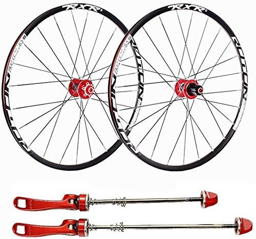 Ruedas De Bicicleta,llantas bicicleta Ruedas de la bici, bicicletas de ruedas de 29 pulgadas de aleación de aluminio de pared doble de MTB ruedas de disco Rim Fast Release Disco de freno 24 hoyos