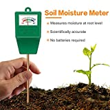 Suplong Soil PH Testing Kit 3 in 1 Plant Soil Tester Kit With PH, Light & Moisture acidity Tester,Great For Bonsai Tree, Garden Care, Farm, Lawn, Indoor & Outdoor (No Battery needed)…