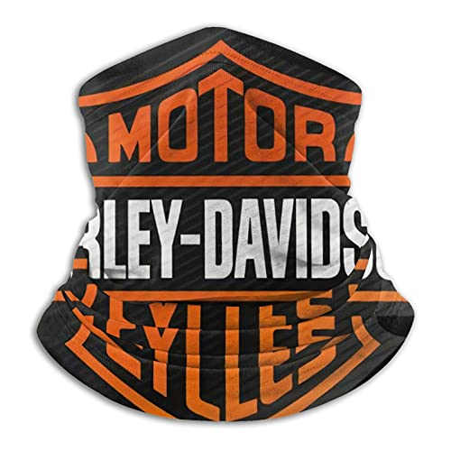 Harley Davidson – Polaina máscara facial pasamontañas pañuelo a prueba de polvo corte UV calentador de cuello ajustable para hombre mujer negro