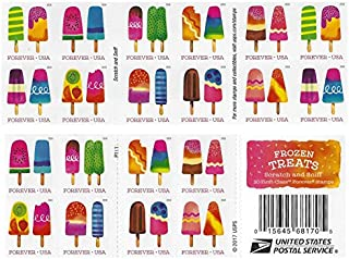 USPS The Frozen Treats Postage Stamps (Book of 20)