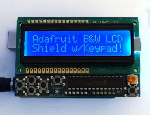 Adafruit Blue&White 16x2 LCD + Keypad Kit für Arduino