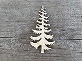 Unfinished wood shapes - CHRISTMAS TREE shape, Christmas tree cutouts, Evergreen tree cut out