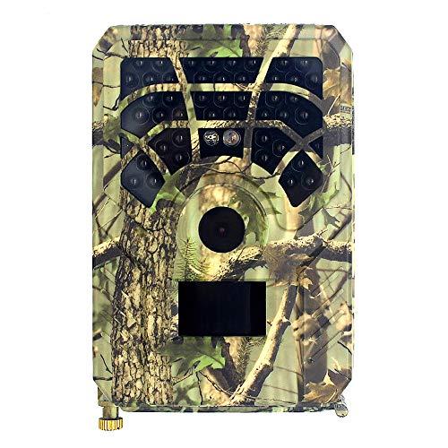 Lixada 12MP 480P Trail- und Wildkamera Bewegungsaktivierte Jagdkamera Outdoor Wildlife Scouting Camera 46 LEDs Nachtsicht IP56 Wasserdicht