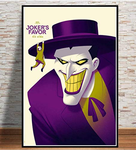 MONBAI Batman The Animated DC Comic Anime Superhero Movie Poster and Prints Wall Art Canvas Wall Pictures Home Decor 50 × 70Cm No Frame