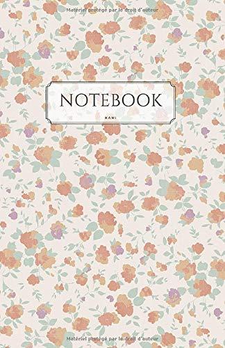 Notebook: Cahier de notes vintage - Pages blanches et pointillées | Format moyen 14 x 21,6 cm - 82 pages - 90g/m² - Couleur papier crème
