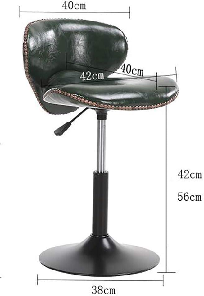 SHPEHP Chaise Ajustable pour Tabouret de Dessin pivotant à roulettes de Salon Usage médical réglable Polyvalent pour Le Bureau et la Maison avec Roues et Dossier-Green White