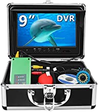 Fishing Camera, Anysun Underwater Fishing Camera with DVR 9 inch Color Monitor HD 1000TVL Fishing Finder Professional Underwater Viewing Camera with 30m/100ft Cable for Ice, Lake, Boat, Sea Fishing