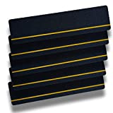 S&X Stairs Treads Non-Slip Tape,Indoor & Outdoor,Safety Treads,6 Inch X 24 Inch,5 PCS/Pack (Black/Reflective)