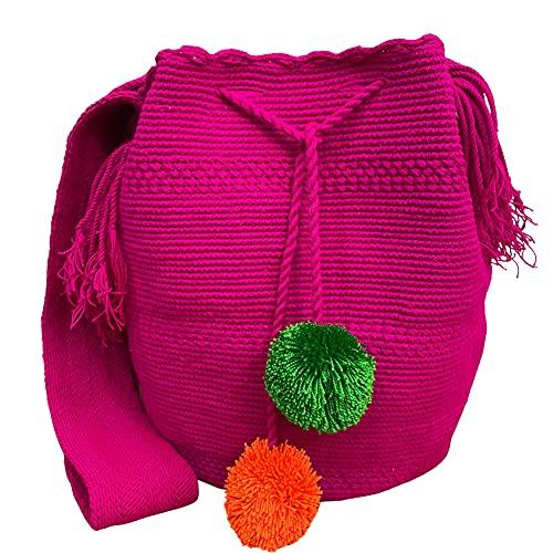Ancdream Mensajero de algodón Wayuu de Colombia, monederos cruzados para mujer, bolsos de hombro de moda para teléfono celular, tarjetero, monedero, color 50#