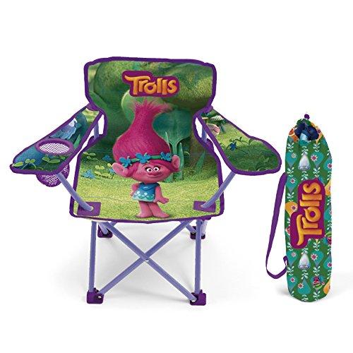 familie24 Kinder Campingstuhl Auswahl Spiderman Hello Kitty Minnie Maus Klappstuhl Stuhl Sessel Gartenstuhl (Trolls)