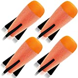 Toosci Mega Missile Refill 4-Pack for Nerf N-Strike Elite Series Blasters, Nerf Mega Darts Compatible with Nerf Missile Launcher, Premium Foam Nerf Gun Bullets Rockets Toys, Universal Dart Ammo Pack