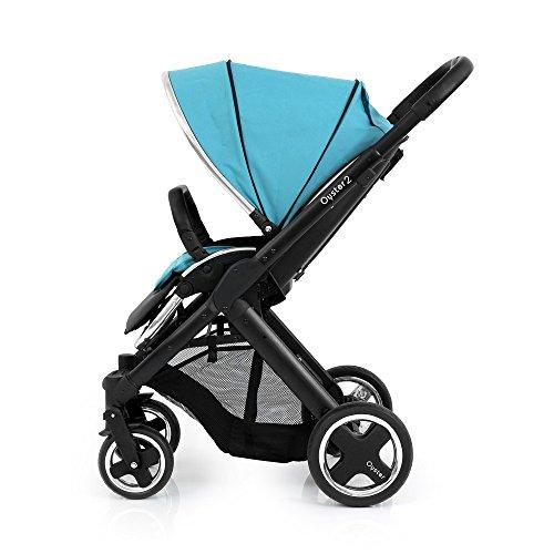 BabyStyle Oyster 2 Carrito de Bebé Satén Negro Azul Océan