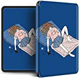 Funda Para Kindle - Divertida Funda Inteligente Estilo Pareja Para Amazon Kindle Paperwhite 4 2018 Estuche Para El Nuevo Kindle Paperwhite 10Th Gen 2018 Auto Wake Up / Sleep Shell, Estilo B, Para Pq9