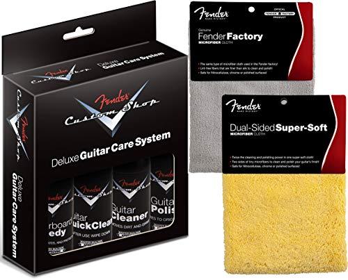 Fender Custom Shop Deluxe sistema de cuidado de guitarra paquetes