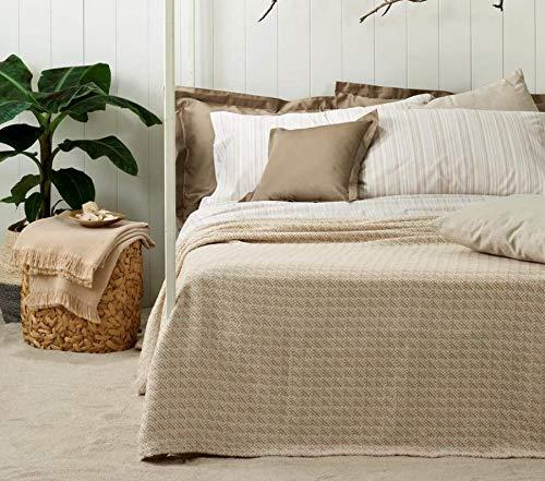 Zucchi Leichte Tagesdecke für Frühling, Sommer, Doppelbett, 100 prozent reine Baumwolle, Jacquard, gefärbt, Premium Qualität (Seitenseite 41)