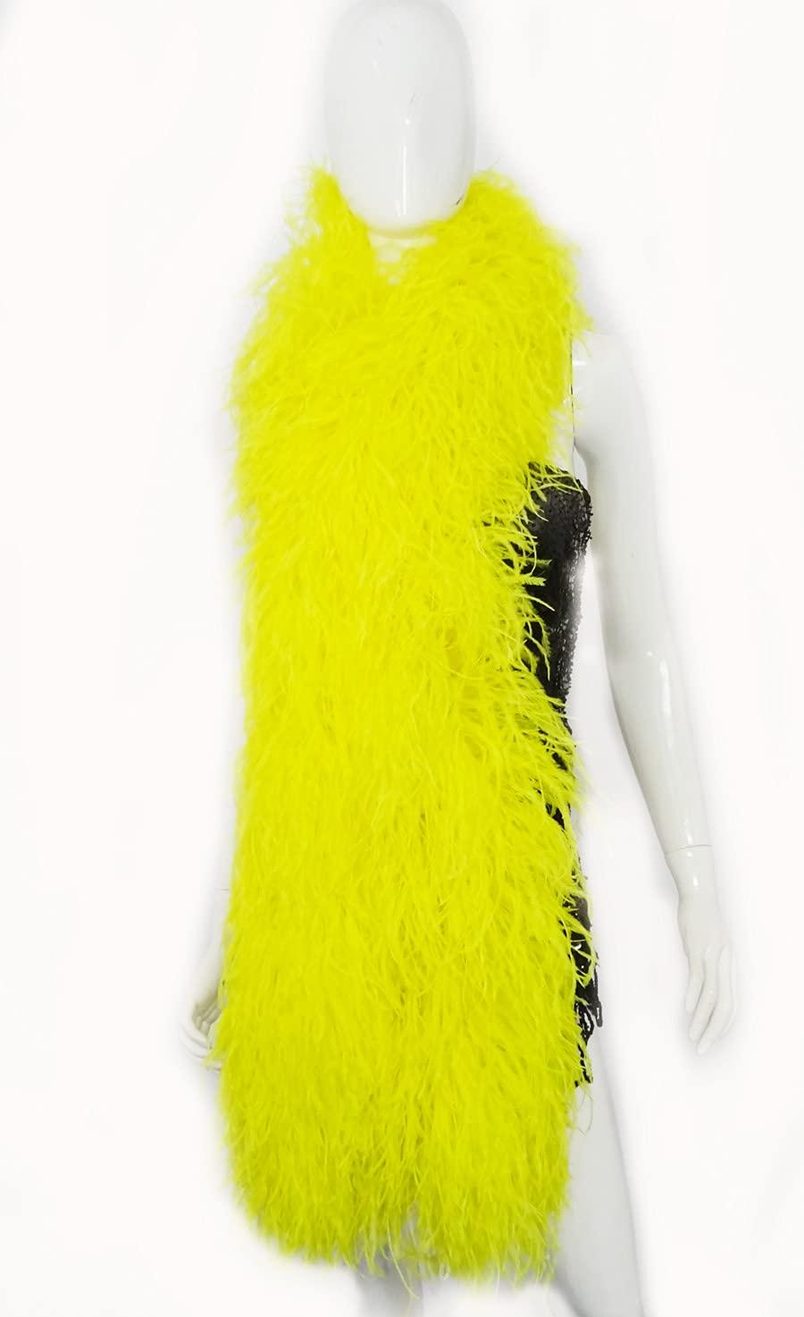 20 Virginia Beach Mall ply yellow Luxury Ostrich 180 Jacksonville Mall cm Feather Boa 71