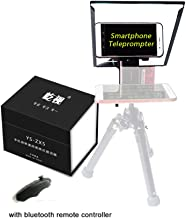 Portable Prompter Smartphone Teleprompters,Teleprompter for Photo Studio Live Interview YouTube Vlog DSLR Camera Mobile Phone Teleprompters