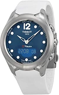 Tissot T-Touch Solar BlueDial White Rubber Ladies Watch T075.220.17.1542.34