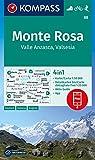 KOMPASS Wanderkarte Monte Rosa, Valle Anzasca, Valsesia 1:50 000 LZ bis 2026: 4in1 Wanderkarte 1:50000 mit Aktiv Guide und Detailkarten inklusive ... KOMPASS-App. Fahrradfahren. Skitouren.: 88