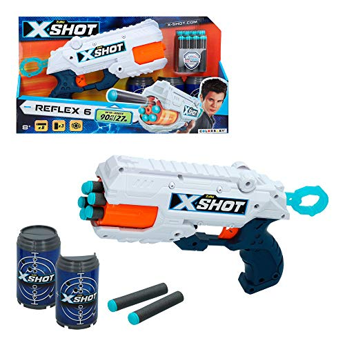 X-Shot - Pistola Reflex X-Shot + 3 botes (44768