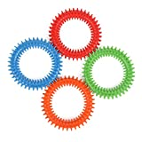 Silicone Spiky Sensory Toy Rings (4-Pack) Tactile Fidget Gadget - Quiet, Fidgeting and ADHD Support - Colorful, Stimulating Massage - Toddler, Youth Friendly Sensory Motor Aid
