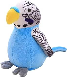 liuqingwind,Dolls,Electric Stuffed Plush Talking Parrot Recording Waving Wings Education Kids Toy - Blue