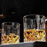 KANARS 4er Set Whisky Gläser, Bleifrei Kristallgläser, Whiskey Glas, 300ml, Schöne Geschenk Box, Hochwertig - 3