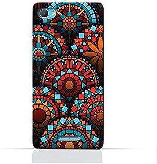 "AMC Design Alcatel Pixi 4 Plus Power,5023E, 5023F 5.0"" TPU Silicone Protective Case with Geometrical Mandalas Pattern"