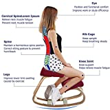 BesteWahl-Ergonomic Chair for Kneeling - Stool Kneeling Chair Home Chair and Office Chair or Kneeling for Better Posture - Large Home Office or Desk Chair, Knee Pads - Robust and Comfortable(Red)