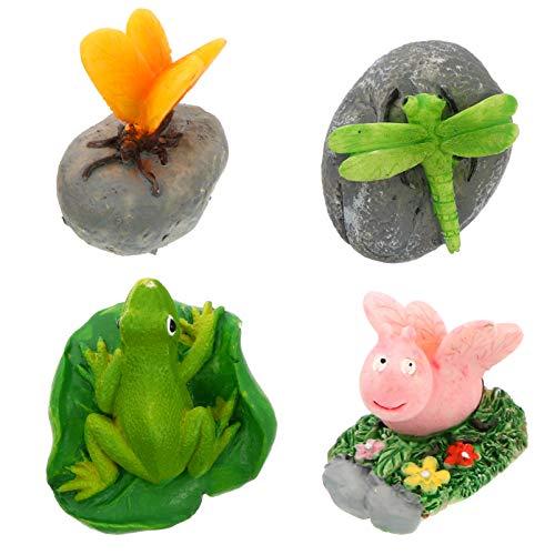 VORCOOL 4 Pcs Aimant De Réfrigérateur Animal Aimants De Réfrigérateur 3D Résine Réfrigérateur Autocollants Enfants Jouets pour Cuisine Casier Bureau Tableau Blanc Cadeau (Style Aléatoire)