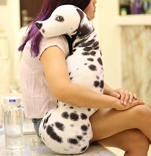 YunNasi Cute 3D lebensechte Tier Hund Kissen Dalmatiner Form Gefülltes Plüsch Hund Kissen Puppe Spielzeug, baumwolle, 60 cm