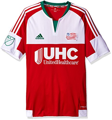 MLS New England Revolution Men's Replica Short Sleeve Jersey, Medium, Red