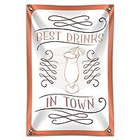 """ベストドリンクに Town ハリケーン傘を持ちます 33"""""""" (84cm) x 22"""""""" (56cm) ミニビニール旗バナー壁符号"""